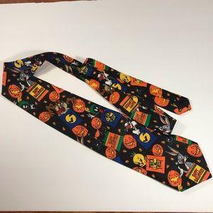 Looney Tunes Cartoon Men's Halloween Tie  🎃